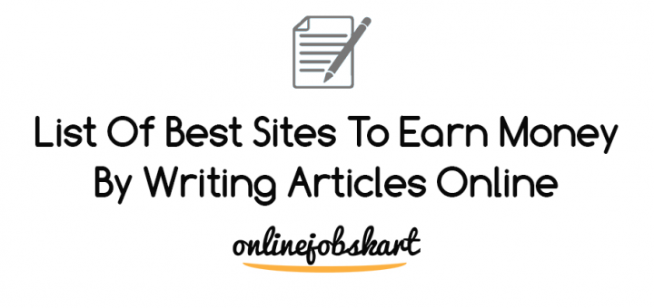 earn money by writing articles online