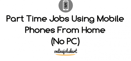 part time jobs using mobile phones